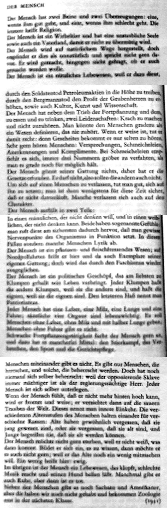 Kurt Tucholsky - Der Mensch